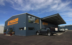 Commercial Shed with cantilever awning