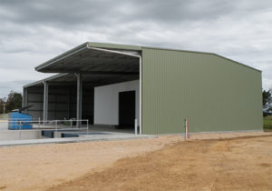 Industrial Packing Shed with Awning