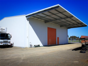 Industrial cantilever awning